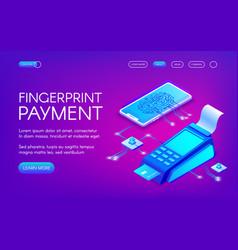 Fingerprint payment technology vector