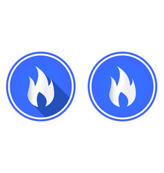 fire round flat icon flame symbol vector image