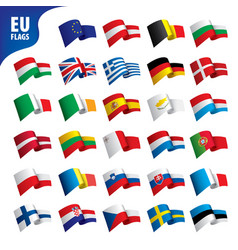 Flags of the european union vector
