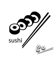 Flat sushi icon logo design vector
