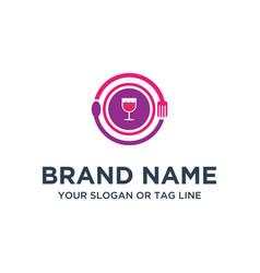 Food logo designs full color vector