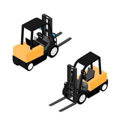 forklifts reliable heavy loader truck heavy duty vector image