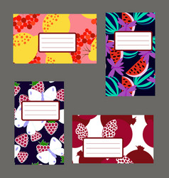 fruitty stickers vector image