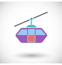 Funicular railway vector image