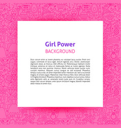 Gift power paper template vector