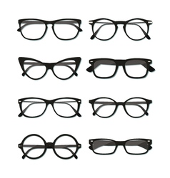 Glasses frame set vector