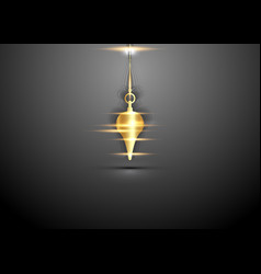 Gold pendulum esoteric for using asking questions vector