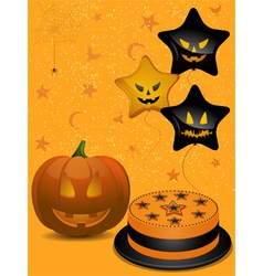 Halloween party background vector