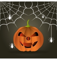 Happy halloween party festival vector