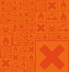 hazardous symbols vector image