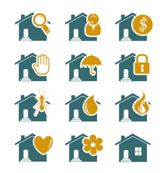House security and service icons vector image