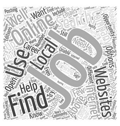 Job searching online what you need to know word vector