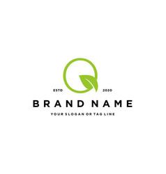 Letter q leaf logo design vector