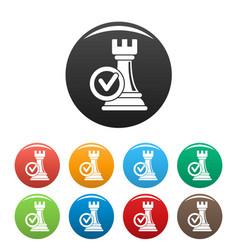 logic decision icons set color vector image