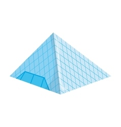 Louvre glass pyramid icon vector