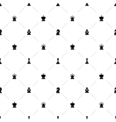 Luxury seamless pattern with chess symbols vector image