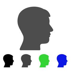 Man head profile flat icon vector