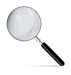 Metal magnifier with a dark handle vector
