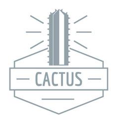 mexico cactus logo simple gray style vector image