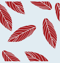 modern abstract leaves on blue background vector image