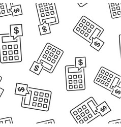 money calculation icon seamless pattern vector image
