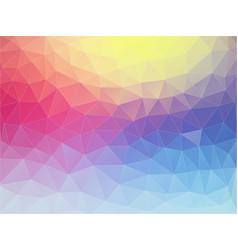 multicolor flat triangle texture vector image