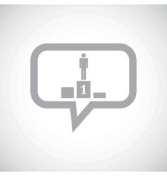 Pedestal grey message icon vector