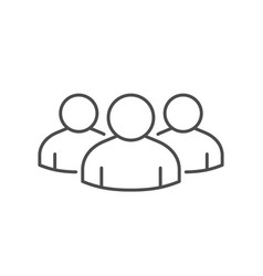 People group or team line icon vector
