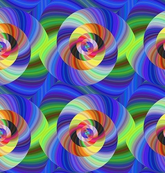 Psychedelic seamless fractal swirl pattern vector