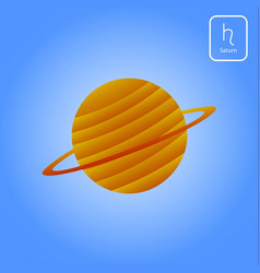 saturn astrology planet vector image