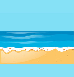 Scene with ocean and beach vector