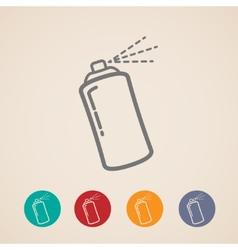 Set aerosol spray can icons vector