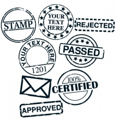 set stamps vector image