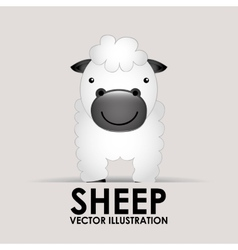 sheep cute vector image