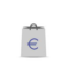 shopping bag with euro sign vector image