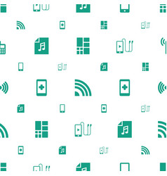 smart icons pattern seamless white background vector image