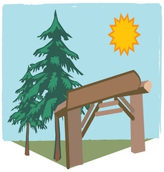 Summer Camp Entry vector