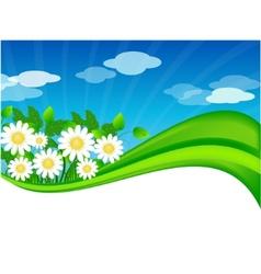 summer meadow background vector image vector image