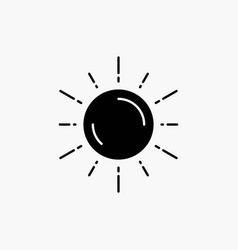 sun space planet astronomy weather glyph icon vector image