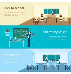 Teacher Banner Set vector