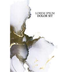 Tender pastel dark colors liquid flow with gold vector