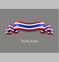 thai flag wavy ribbon background vector image
