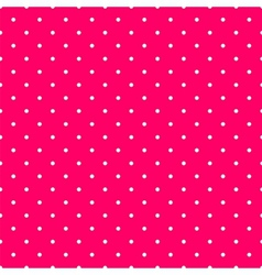 Tile pattern with small white polka dots on pink vector image