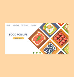 Toast landing page sandwich healthy toasted vector