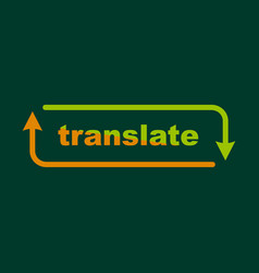 translation icon outline style vector image vector image