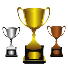 Trophies set vector image