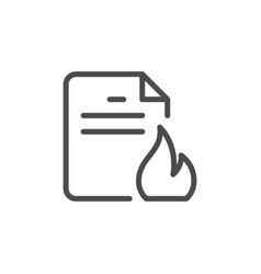 Urgent affairs line outline icon vector