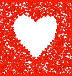 valentines heart cart love symbol isolated on vector image