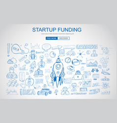 venture capital funding concept with business vector image