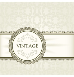 Vintage background ornamental round frame vector